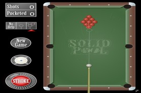 Billard-spiel-solid-straight-pool