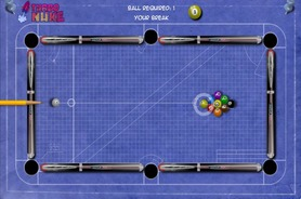Billiard-game-on-an-office-blueprint-billiards