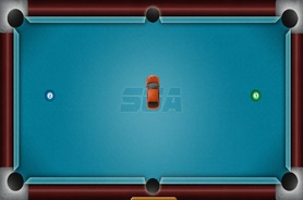 Billiards-game-with-a-car-billiards-drift