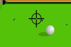 Shooting-game-on-billiards-balls